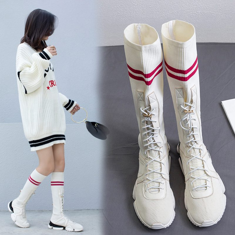 Chiko Booker Split Sole Sneaker Sock Boots