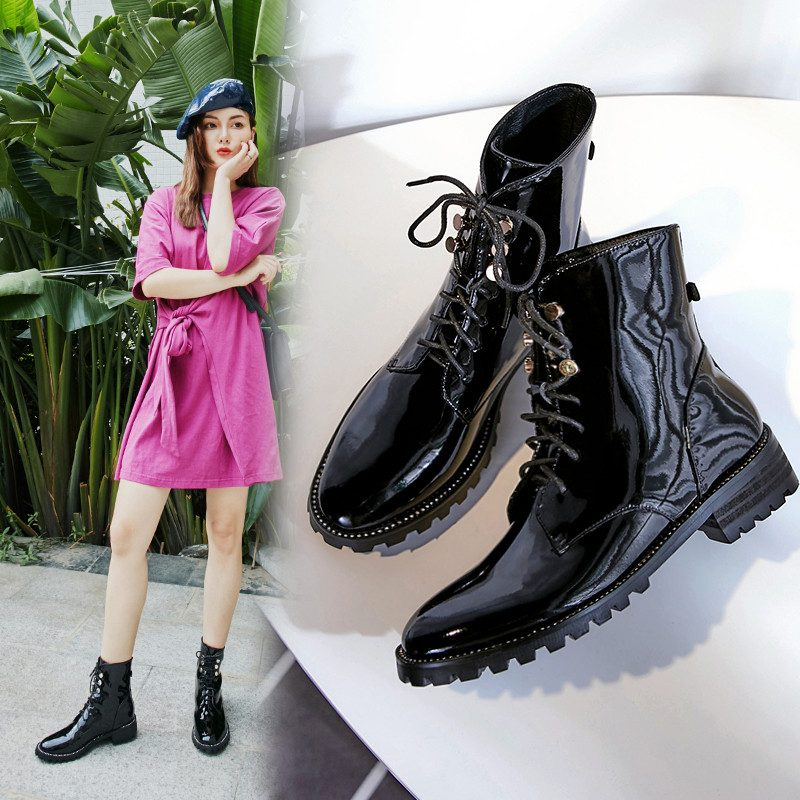 Chiko Bella Lace Up Combat Ankle Boots