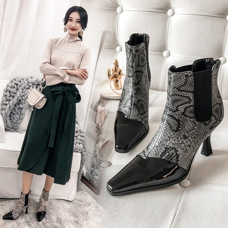 Chiko Braedon Python Print Ankle Boots