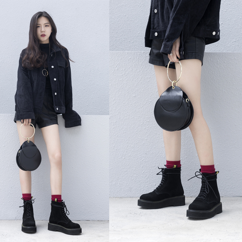 CHIKO BIRKEY COMBAT ANKLE BOOTS