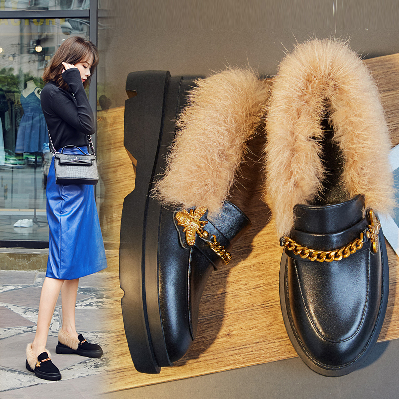 BRANT FUR LINED LOAFERS
