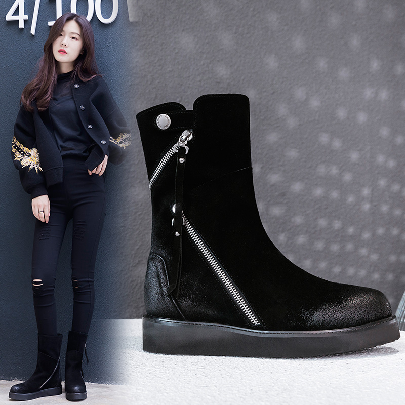 BRENT ZIPPER ANKLE BOOTS