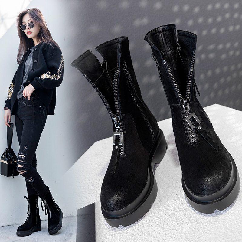 Chiko Brenten Front Zipper Ankle Boots