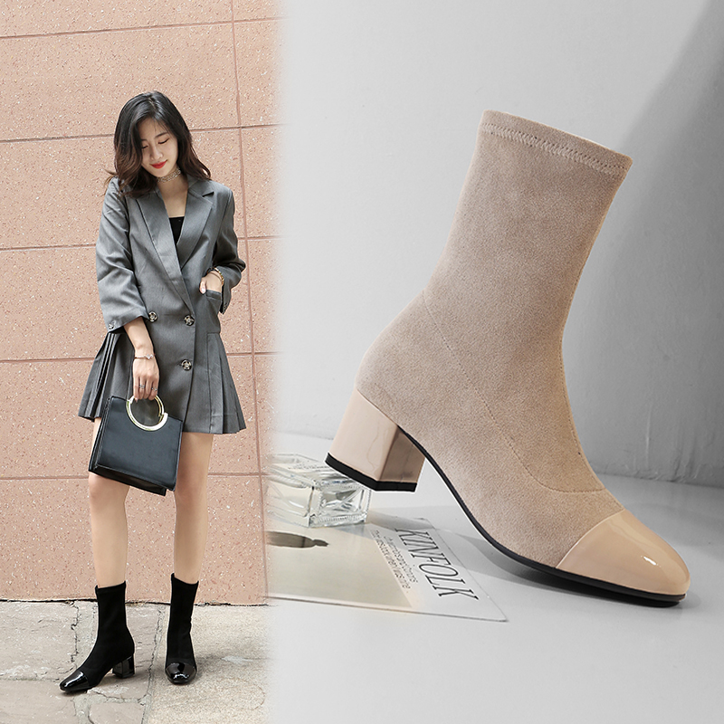 Chiko Brick Cap Toe Ankle Boots