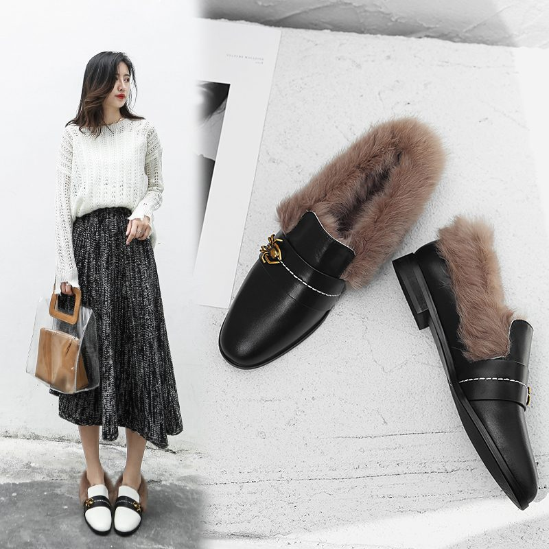 Chiko Britny Fur Lined Loafer Flats