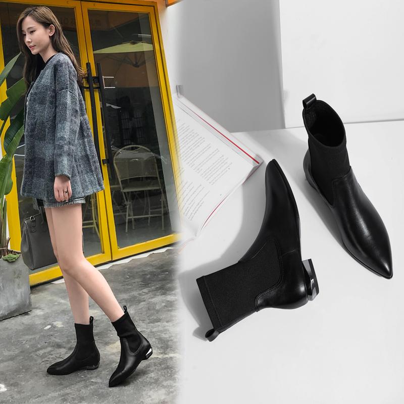 Chiko Brittanee Block Heel Sock Boots
