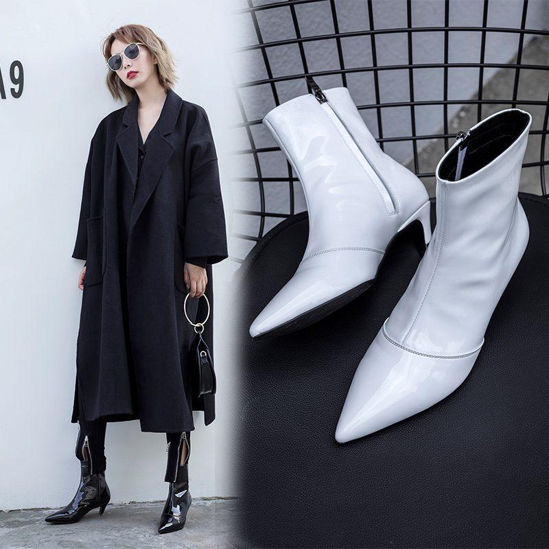 Chiko Brittanny Kitten Heel Ankle Boots
