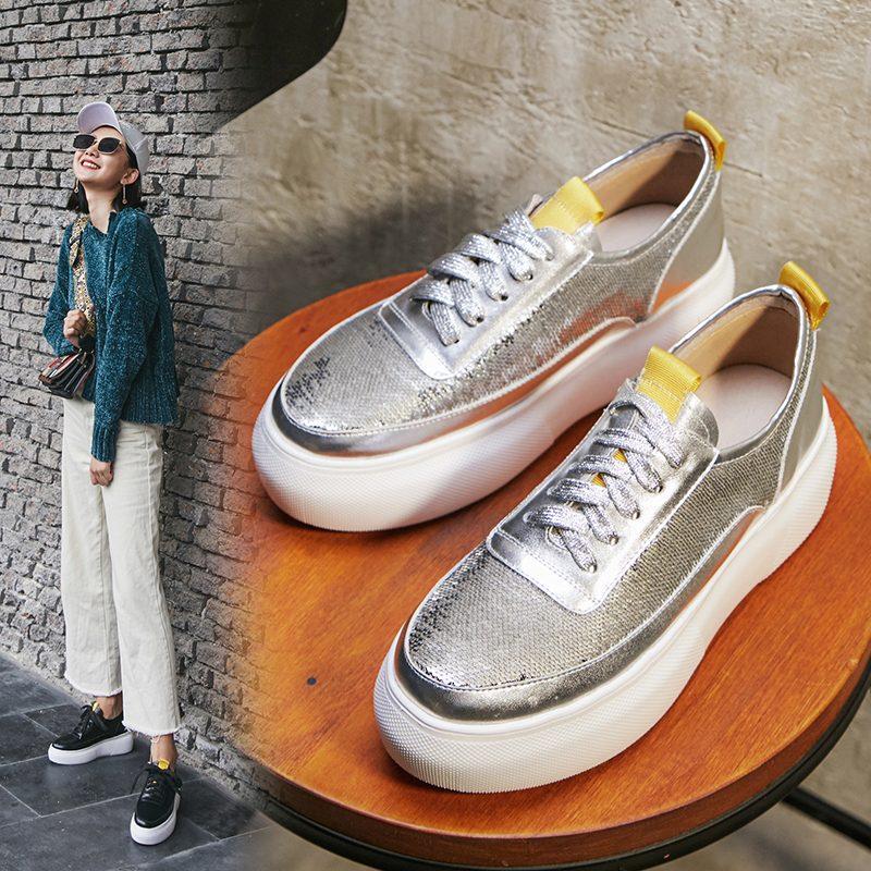 Chiko Brittny Sequin Flatform Sneakers