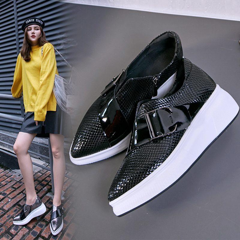Chiko Brockton Metallic Strap Flatform Sneakers