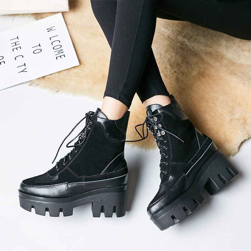 Chiko Bud Platform Combat Ankle Boots
