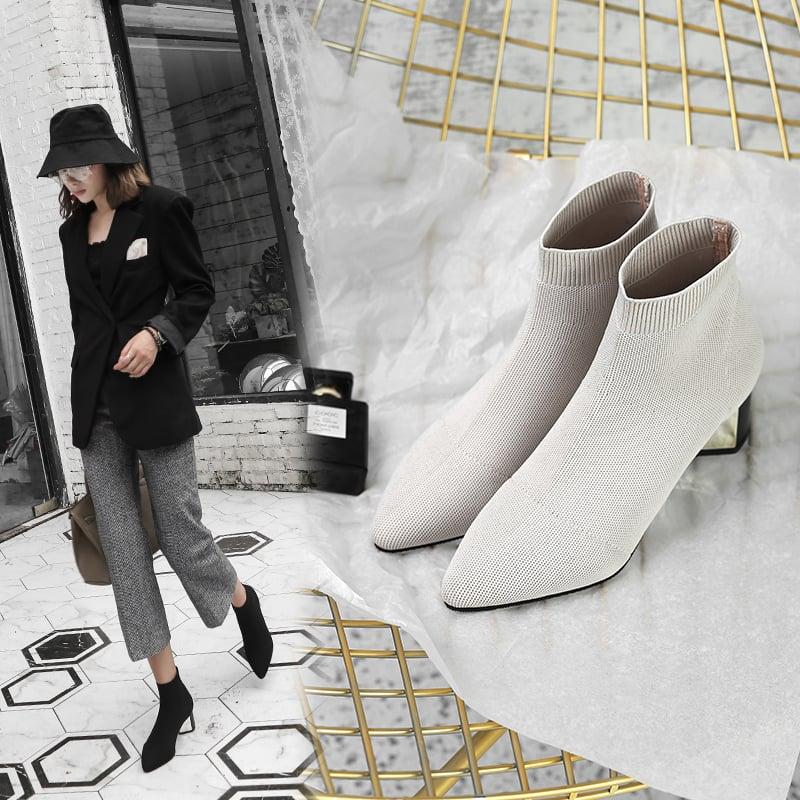 Chiko Burgess Metallic Sock Ankle Boots