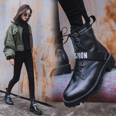 Chiko Burnett Strap Combat Ankle Boots