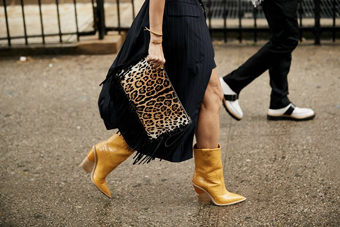 Western boot street styles at fashion