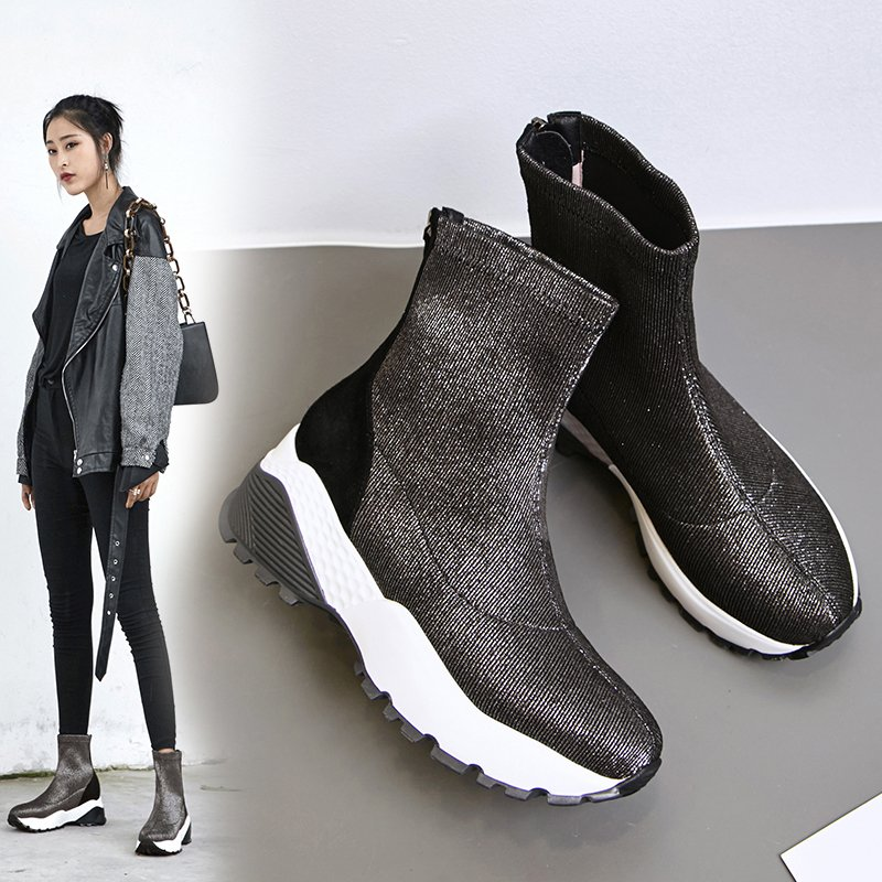 Chiko Byron Metallic Sneaker Ankle Boots