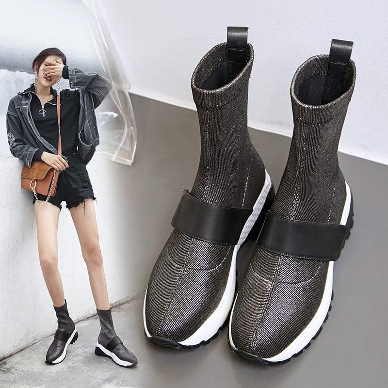 Chiko Cadby Metallic Sneaker Ankle Boots