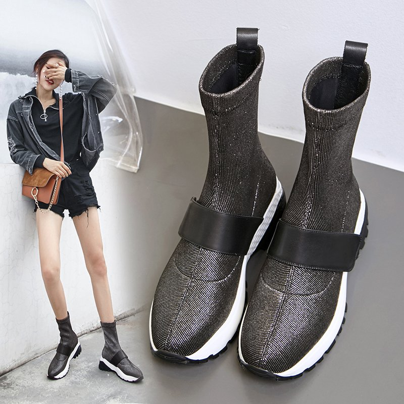 Chiko Cadby Metallic Sneaker Ankle Boots