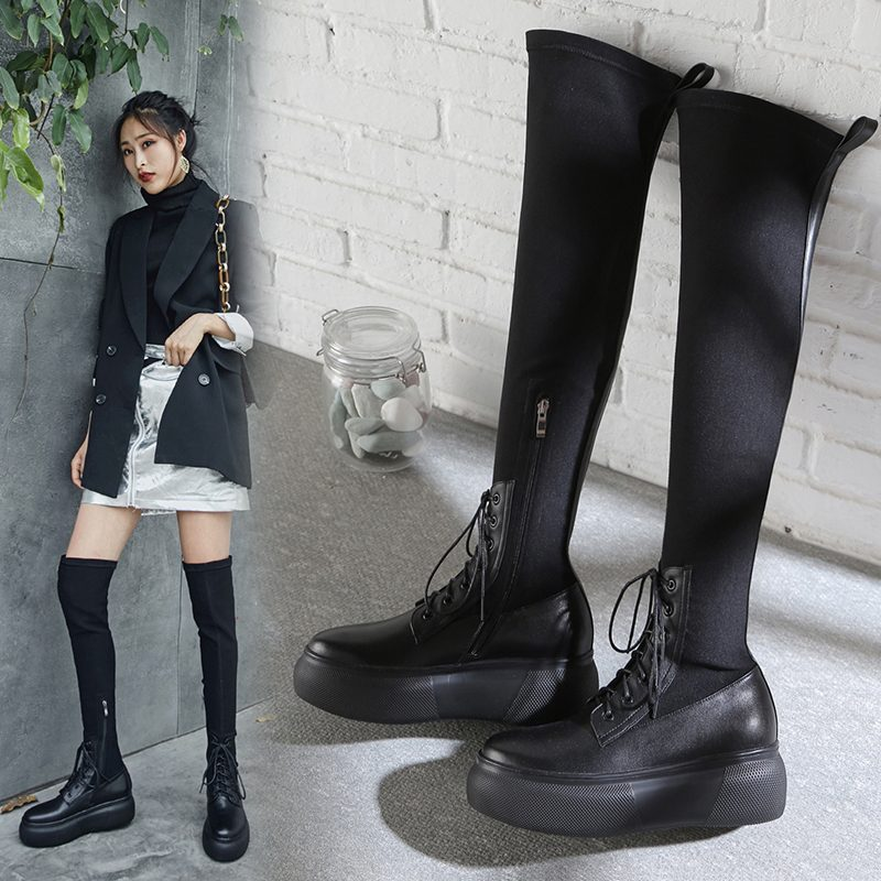 Chiko Cleve Flatform Thigh High Sock Boots