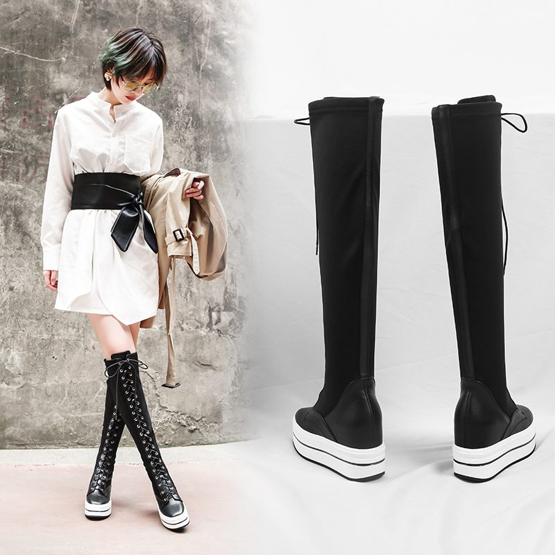 Chiko Cleveland Flatform Knee High Sock Boots