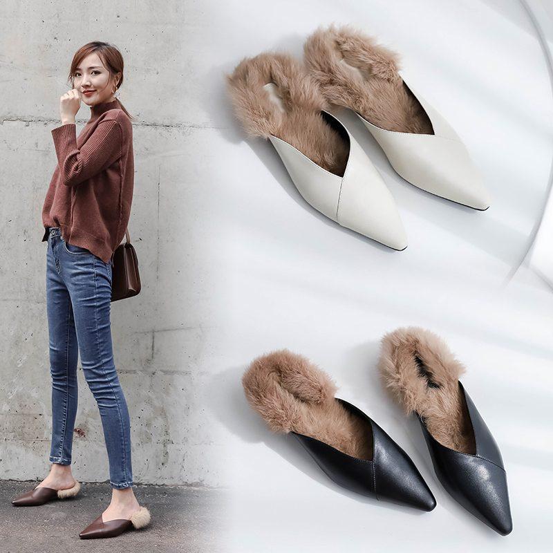 Chiko Coady Fur Lined Kitten Heel Mules