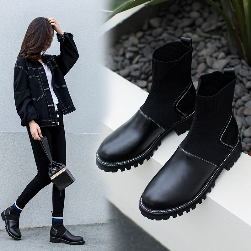 CAWLEY SOCK ANKLE BOOTS