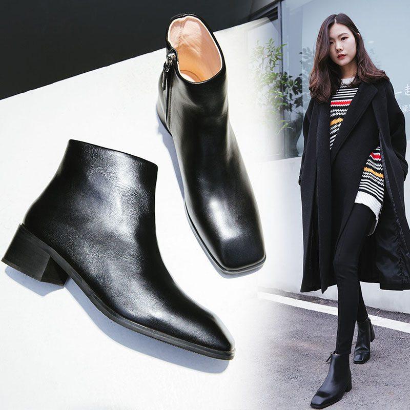 Chiko Cedrica Square Toe Ankle Boots