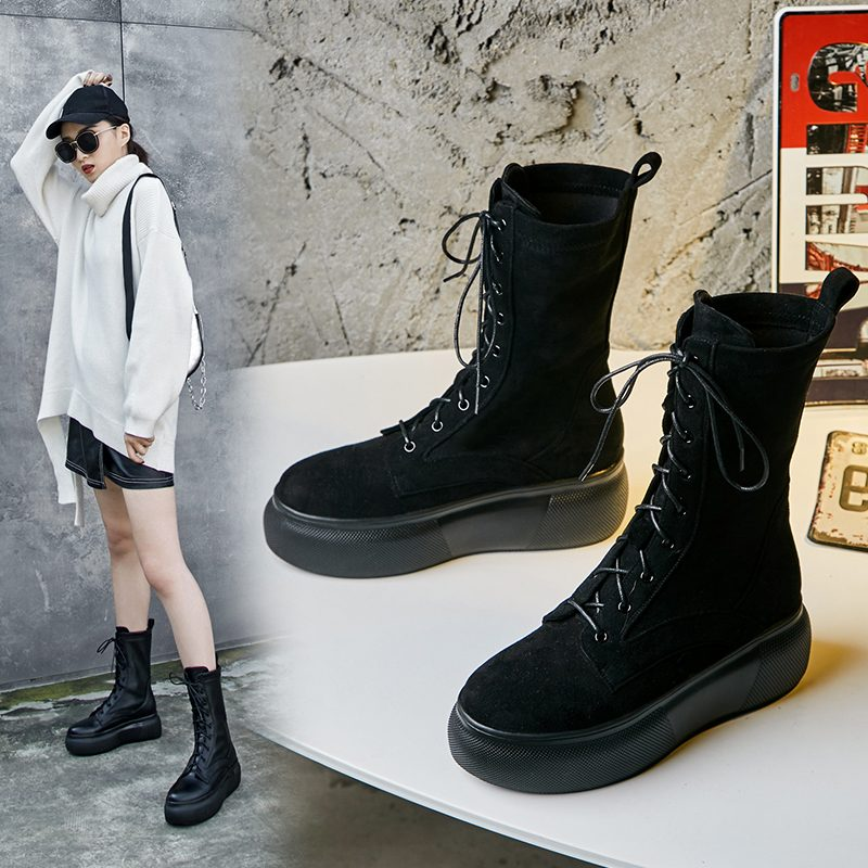 Chiko Chadwick Flatform Combat Ankle Boots