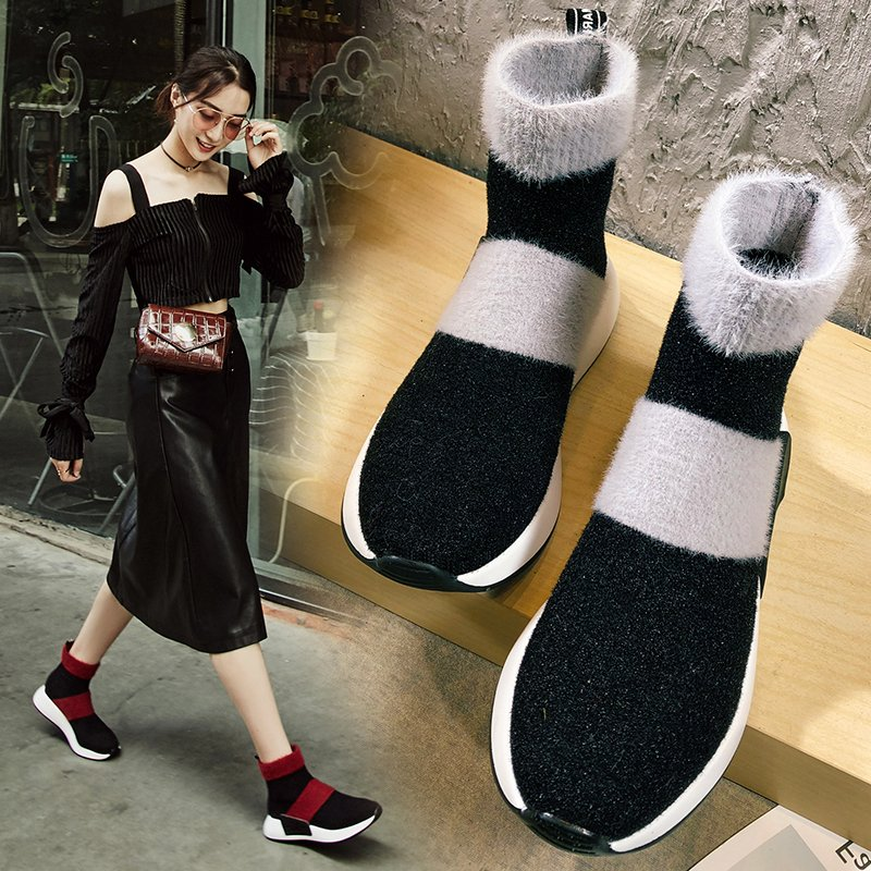 CHANNING SOCK SNEAKER ANKLE BOOTS