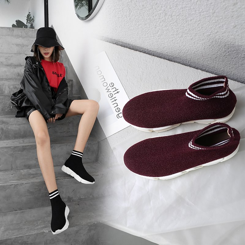 CHANSE SOCK SNEAKER ANKLE BOOTS