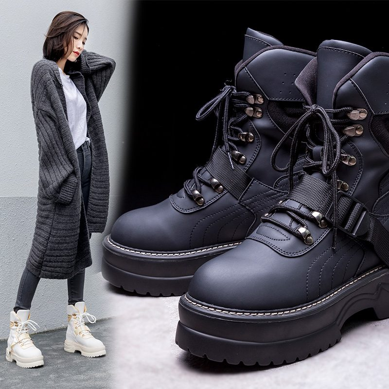 Chiko Charla Platform Hiking Combat Ankle Boots