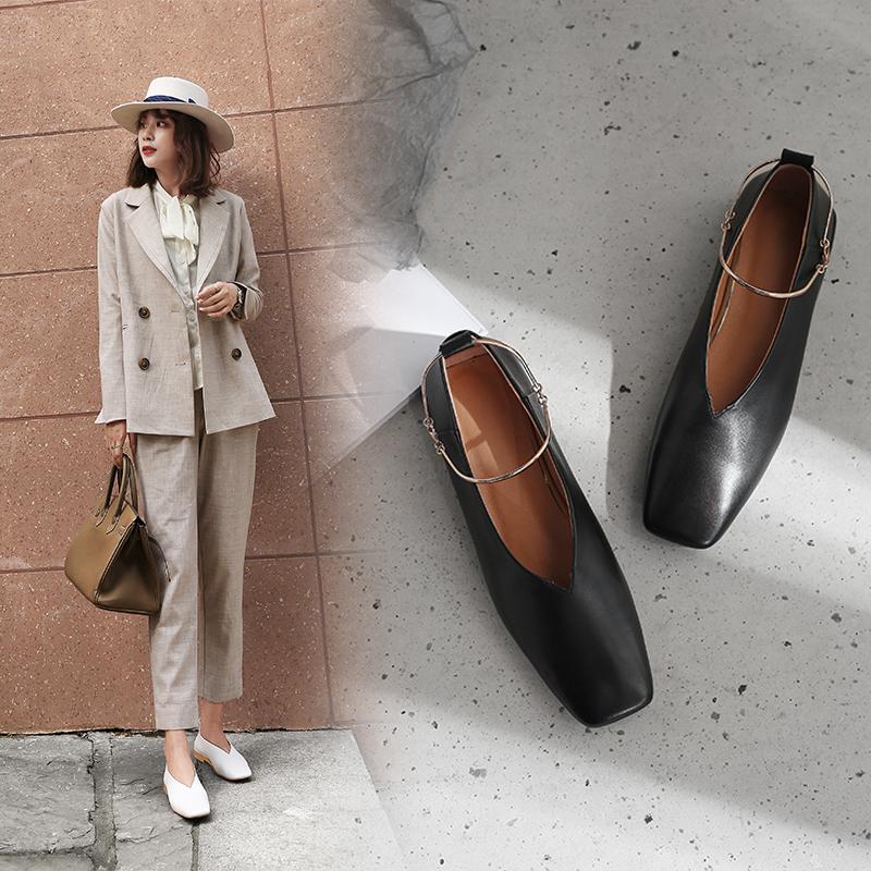 Charlene Ankle Cuff Flats Glove Shoe
