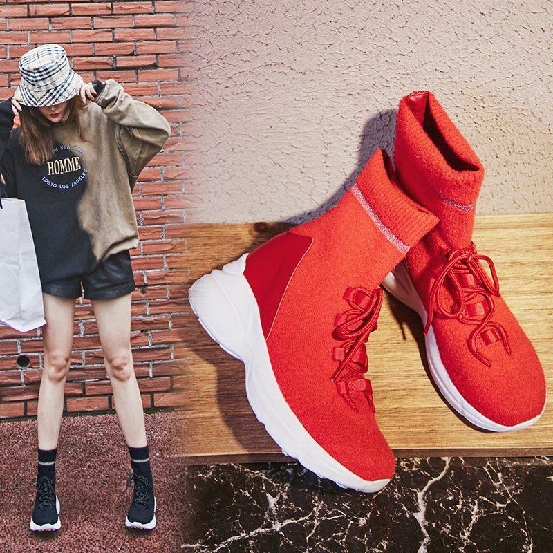 Chiko Charlton Flatform Sock Sneaker Boots