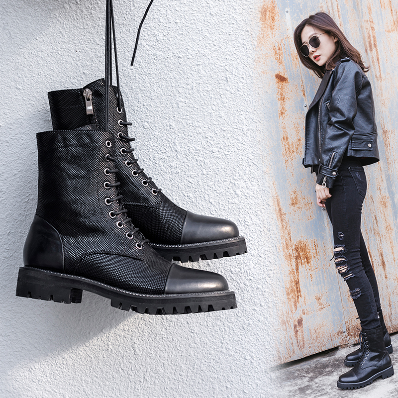 CHAS COMBAT ANKLE BOOTS