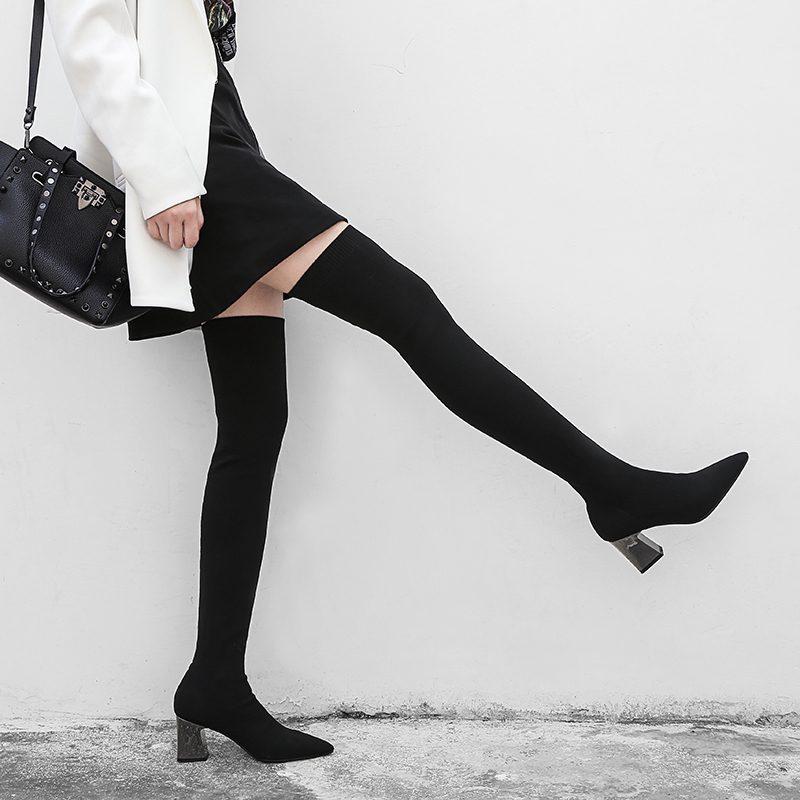 Chiko Chazz Metallic Heel Sock Boots