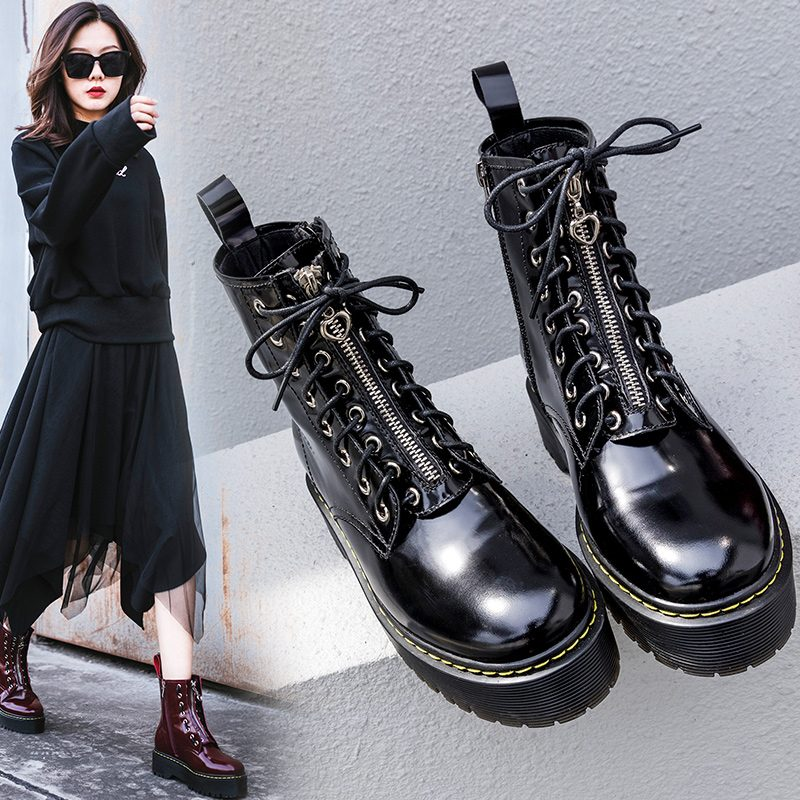 Chiko Chelby Zip Front Combat Hiking Ankle Boots