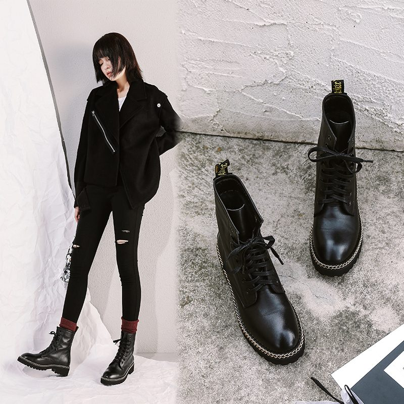 Chiko Chelsy Chain Combat Ankle Boots