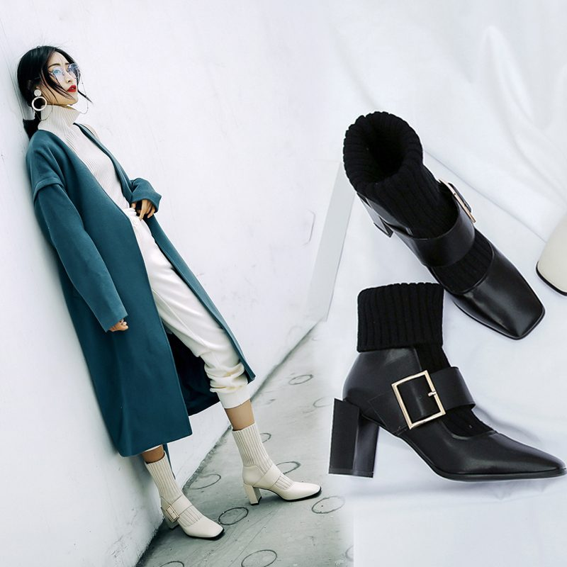 Chiko Chick Sock Ankle Boots