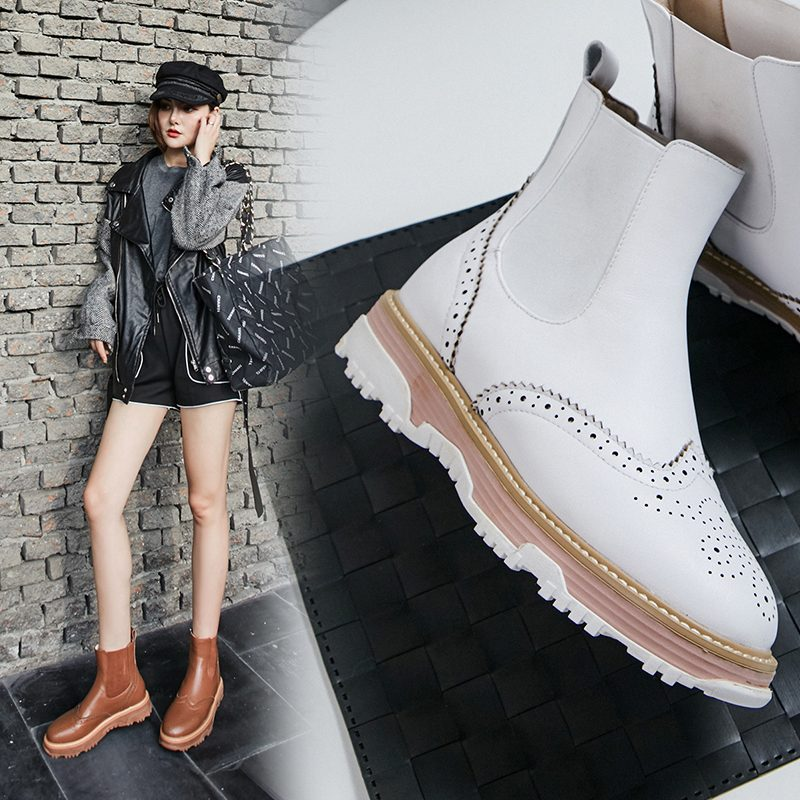 Chiko Chip Color Sole Chelsea Boots