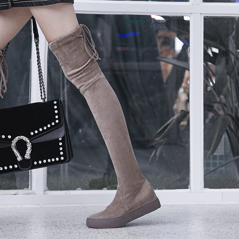 CHRYS THIGH HIGH SNEAKER BOOTS