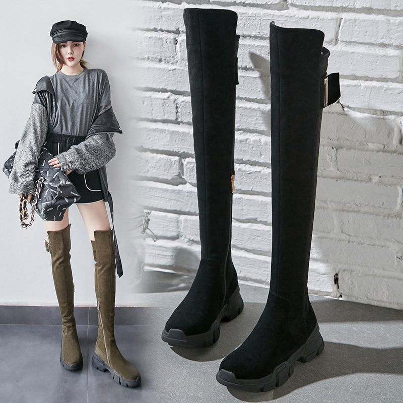 Chiko Clay Sneaker Above Knee High Boots