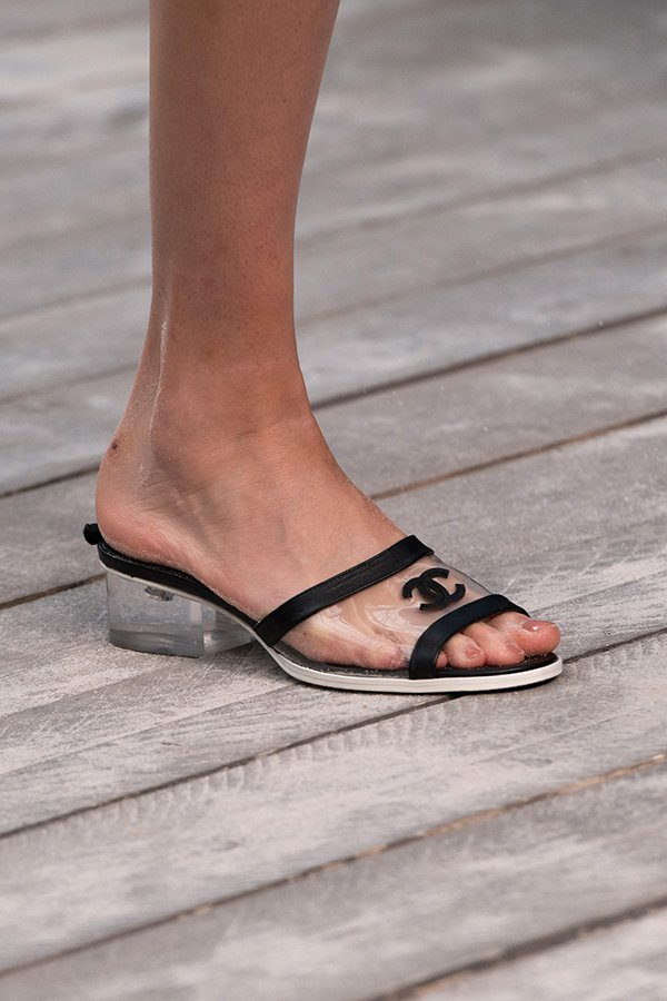 ad3481a9 Chanel Shoes Spring 2019 Confirm PVC Trend Is Here To Stay