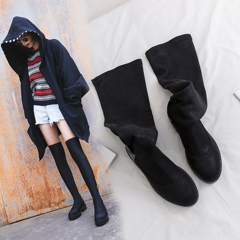 COLBY THIGH HIGH SOCK BOOTS