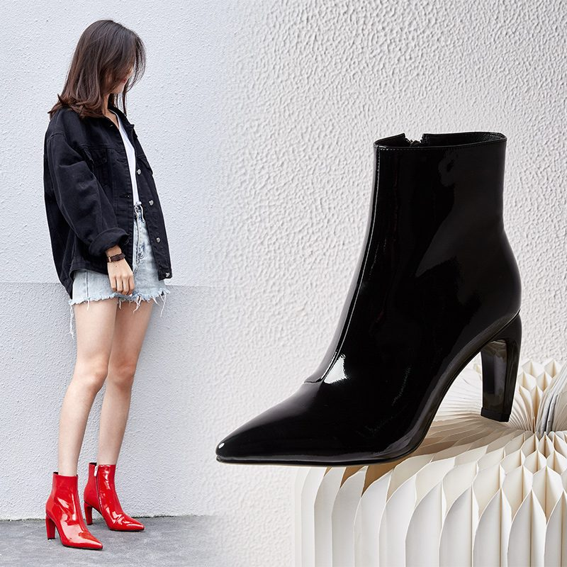 Chiko Coley Curve Heel Ankle Boots