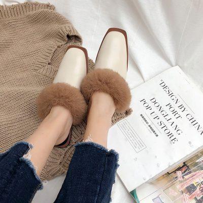 Chiko Darwin Fur Loafer Mules