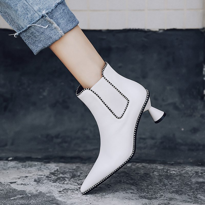Chiko Clive Sculptural Kitten Heel Ankle Boots
