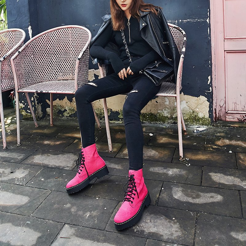 COLBEY FLATFORM COMBAT ANKLE BOOTS