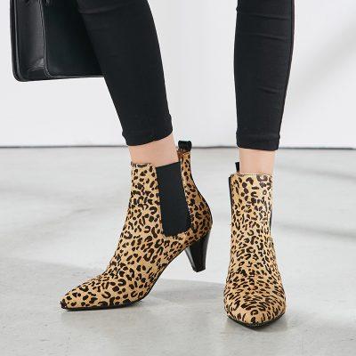 Chiko Corliss Leopard Print Chelsea Boots