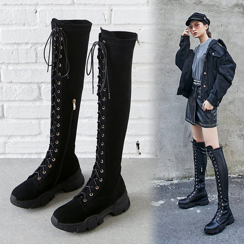 COURTLYN KNEE HIGH SNEAKER BOOTS