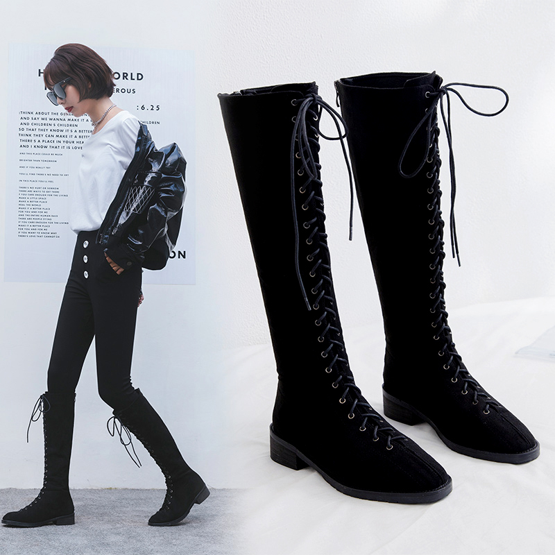 COURTNEI KNEE HIGH COMBAT BOOTS
