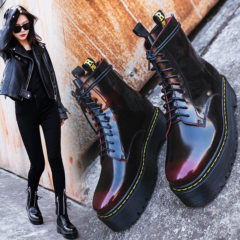 Chiko Cramer Flatform Combat Ankle Boots