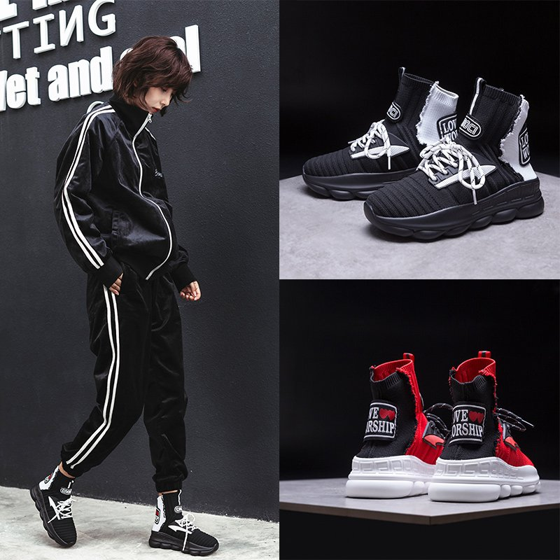 CRAWFORD SOCK SNEAKER ANKLE BOOTS